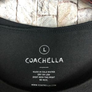 Coachella Tops - CoAchella Black Tank Top